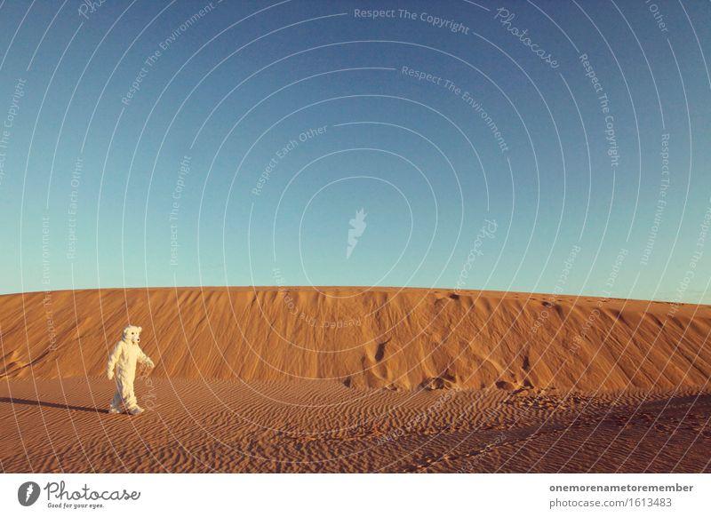 Das war doch Früher nicht hier Kunst Kunstwerk ästhetisch Bärenfalter Eisbär Wüste Düne Kontrast Surrealismus Lebensraum Natur Naturphänomene Umweltschutz