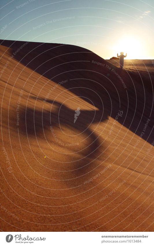 Bärenkaktus Freude Kunst außergewöhnlich ästhetisch verrückt Wüste Düne dumm Kostüm Kunstwerk Monster spaßig Unsinn Spaßvogel Schattenspiel