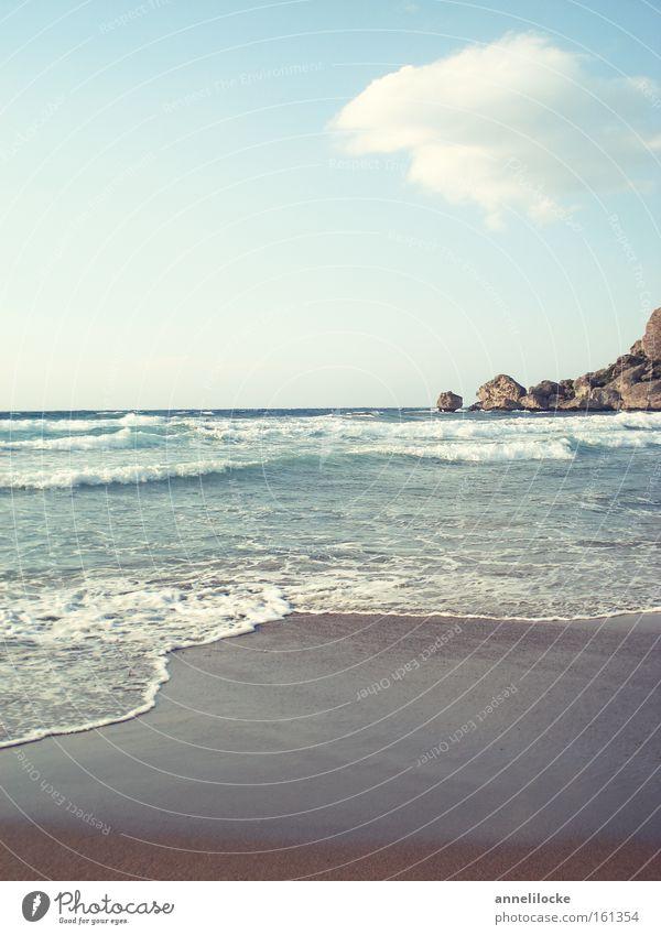 North Cyprus - Alagadi Turtle Beach Außenaufnahme Menschenleer Textfreiraum oben Textfreiraum unten Morgendämmerung Tag Zentralperspektive Erholung ruhig