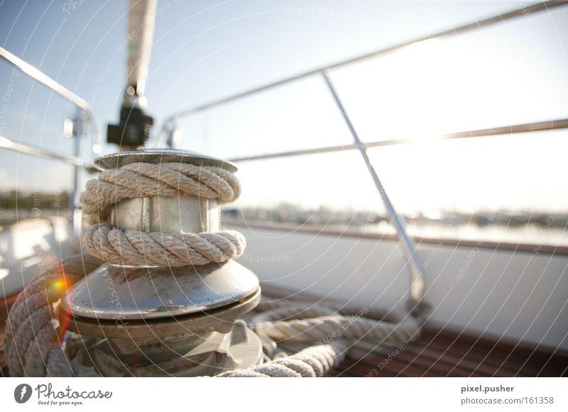 Segeln Sonne blau Ferien & Urlaub & Reisen Wasserfahrzeug Wind Seil Ausflug Segeln Schifffahrt Segel Segelschiff