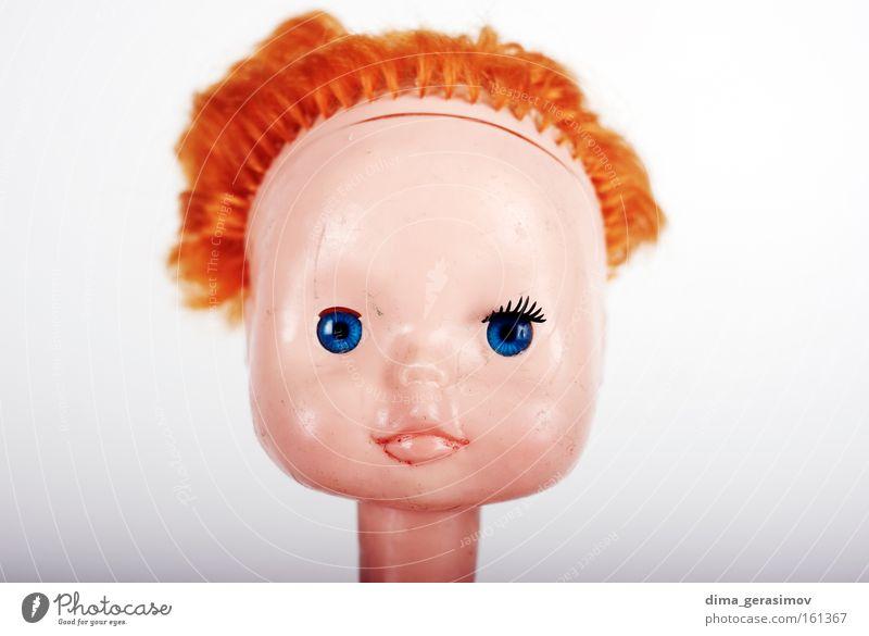 blau Farbe Auge Kopf Beine Angst Behaarung Lippen Spielzeug Puppe Panik Schrecken Alptraum