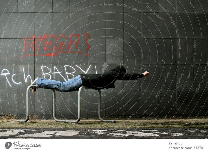 rette mich - baby. Superman Held fliegen Mauer nachhaltig Engagement Mut Gesellschaft (Soziologie) Mensch Retter Filmfigur Comic Mann blockbuster
