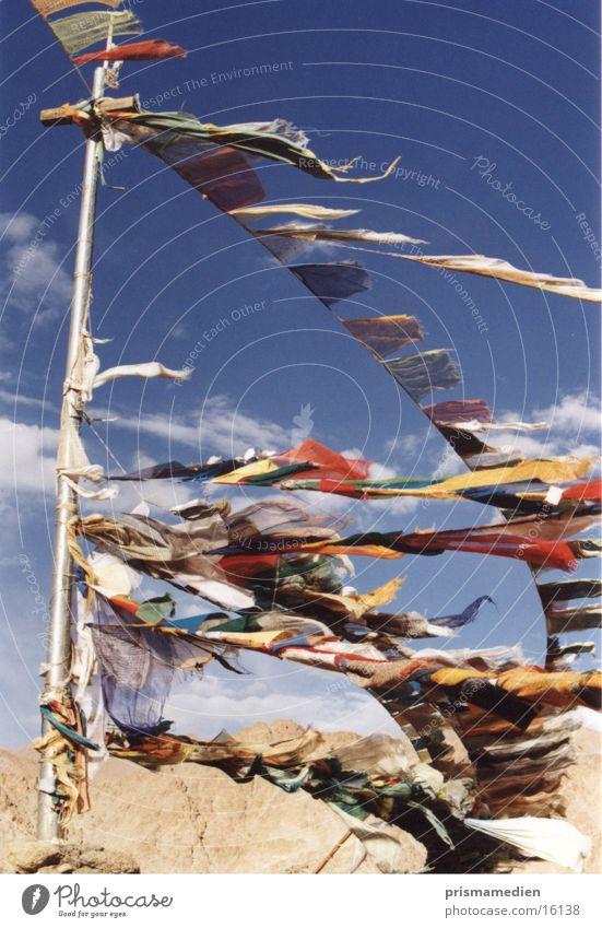 Tibetische Gebetsfahnen Religion & Glaube Buddhismus Tradition Spiritualität tibetischer