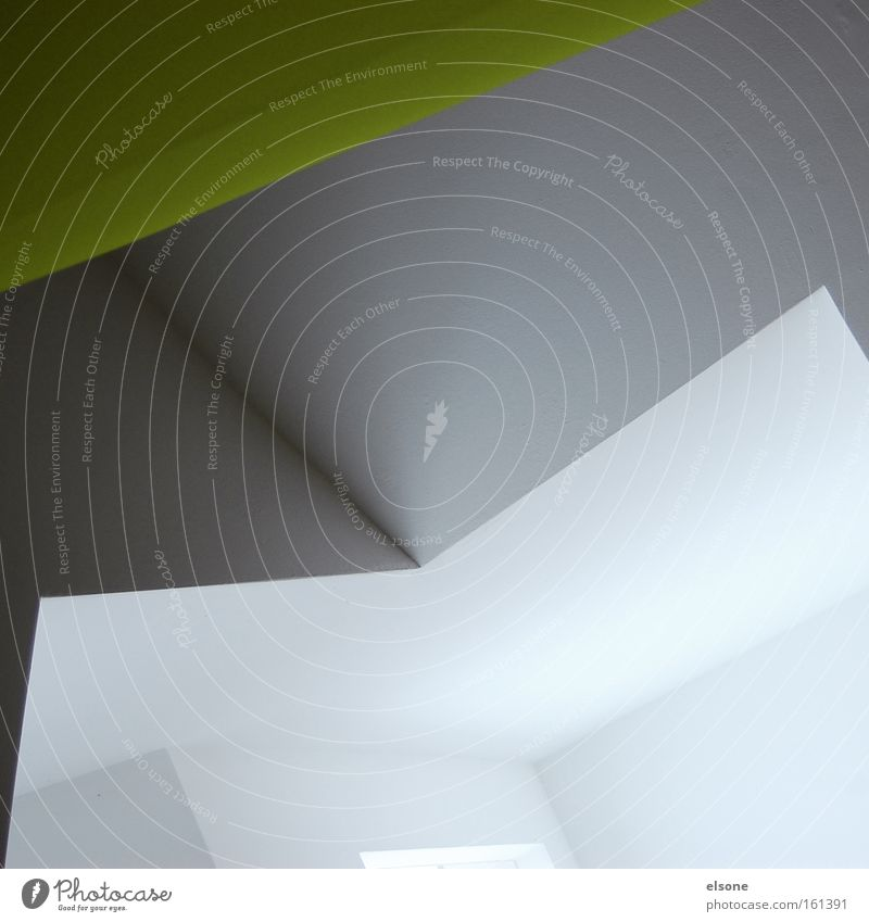 M graphisch Geometrie Grafik u. Illustration Innenarchitektur Ausstellung Strukturen & Formen Linie grün weiß grau minimalistisch Licht Schatten Detailaufnahme