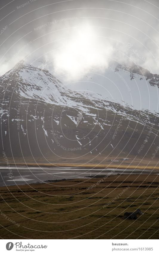 sonne. Natur Ferien & Urlaub & Reisen Wasser Sonne Landschaft Wolken Ferne Winter Berge u. Gebirge Umwelt Gras Schnee Freiheit Tourismus Wetter Eis