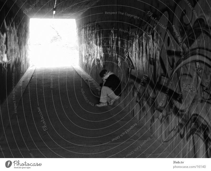 u-turn pix_2 Denken Tunnel Mann Mensch Traurigkeit