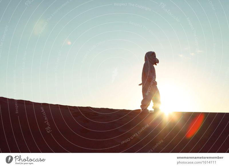 Ins Licht Kunst Kunstwerk ästhetisch Eisbär Eisbärfalle Sonne wandern Klimawandel Wüste Ferne Einsamkeit Reisefotografie Kostüm verkleidet Farbfoto mehrfarbig