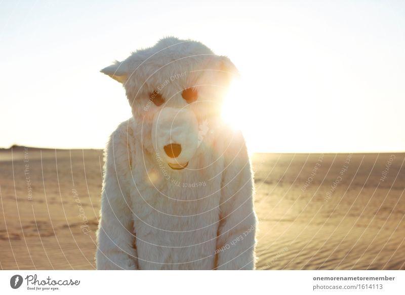MC Eisbär Kunst ästhetisch Fell weiß Kostüm verkleidet dumm Freude spaßig Spaßvogel Spaßgesellschaft Glücksbringer Jugendliche Jugendkultur Jugendbewegung Wüste