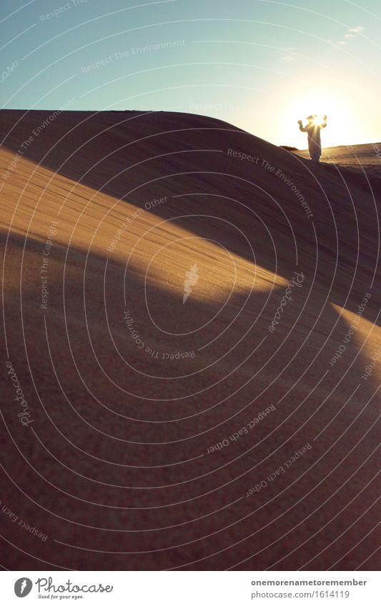 Sonnengebet Kunst Kunstwerk ästhetisch Eisbär Kreativität Tier mystisch geheimnisvoll außergewöhnlich außerirdisch Außerirdischer außerorts Sand Düne Licht
