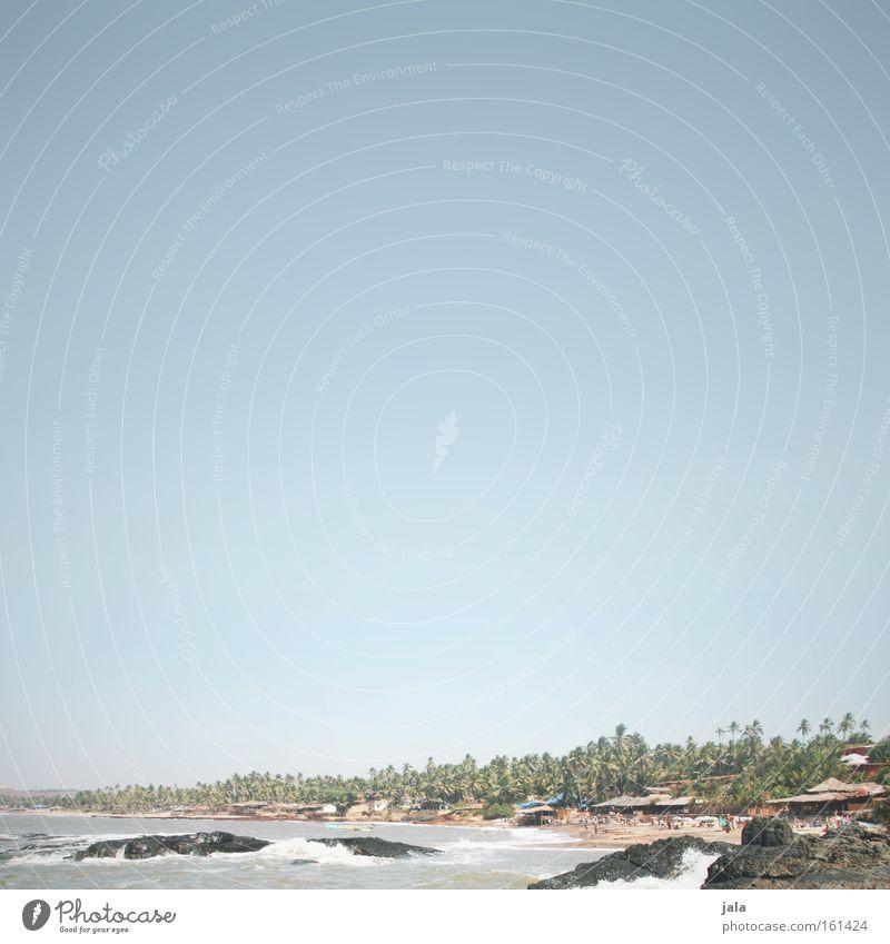Sonne, Sand und Shiva Himmel Meer Strand Ferien & Urlaub & Reisen Ferne Erholung Freiheit Wärme Indien Palme