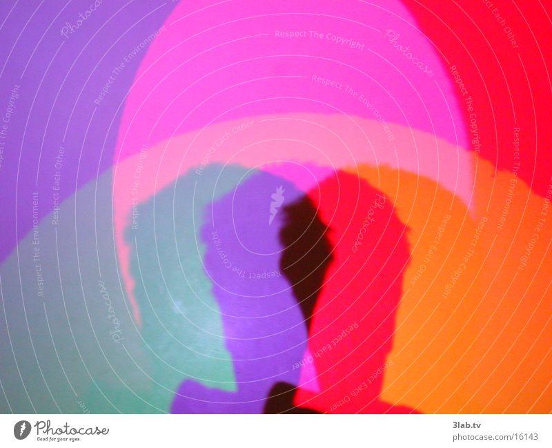 kopf im farbspektrum Licht Mann Farbe Kopf Schatten Reaktionen u. Effekte
