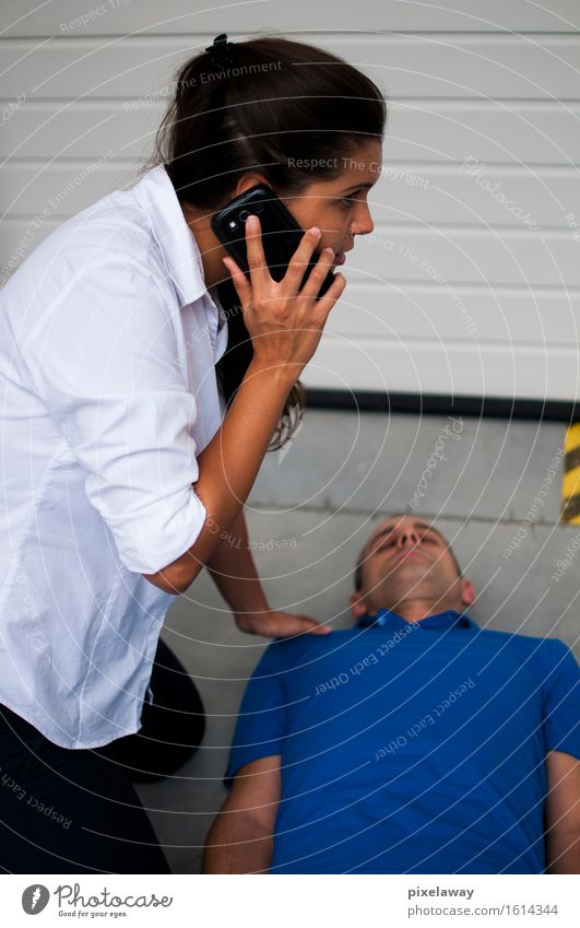 Notruf Gesundheit Gesundheitswesen Behandlung Mensch 2 Wiederbelebung aed Widerbelebung kardiopulmonale Reanimation Herzmassage Defibrillation Erste Hilfe