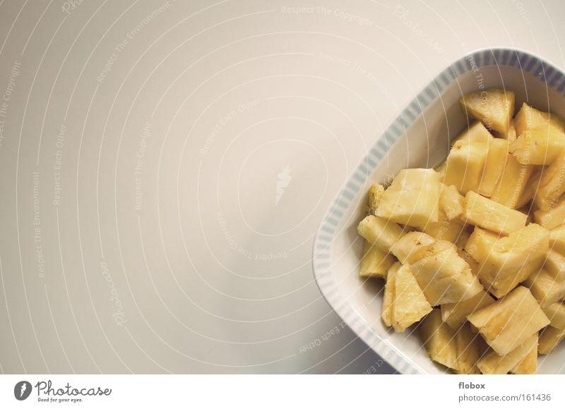 Mahlzeit Gesundheit Frucht Ernährung süß Küche Teller exotisch Vitamin Karibisches Meer geschnitten Vegetarische Ernährung tropisch Ananas Südfrüchte