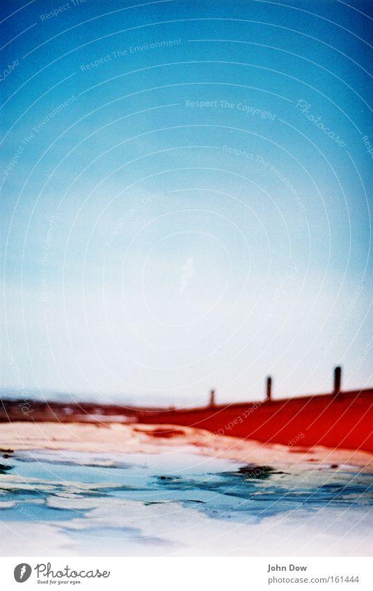 Lyme Regis blau Wasser Sommer Meer Küste natürlich nass Bucht analog Surrealismus Vignettierung Großbritannien Rotstich