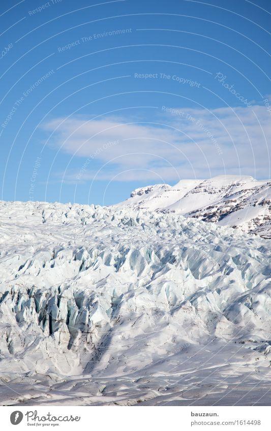 eisberg. Himmel Natur Ferien & Urlaub & Reisen Landschaft Einsamkeit Ferne Winter Berge u. Gebirge Umwelt Schnee Freiheit Tourismus Eis leuchten Ausflug