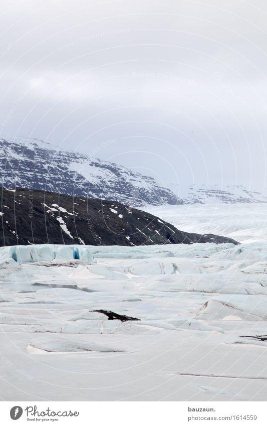 gletscherzunge. Natur Ferien & Urlaub & Reisen Landschaft Ferne Winter Berge u. Gebirge Umwelt Schnee Freiheit Tourismus Wetter Eis Ausflug Klima