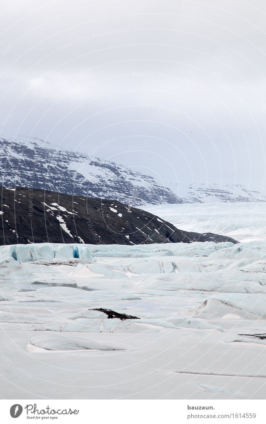 gletscherzunge. Natur Ferien & Urlaub & Reisen Landschaft Ferne Winter Berge u. Gebirge Umwelt Schnee Freiheit Tourismus Wetter Eis Ausflug Klima Vergänglichkeit Abenteuer