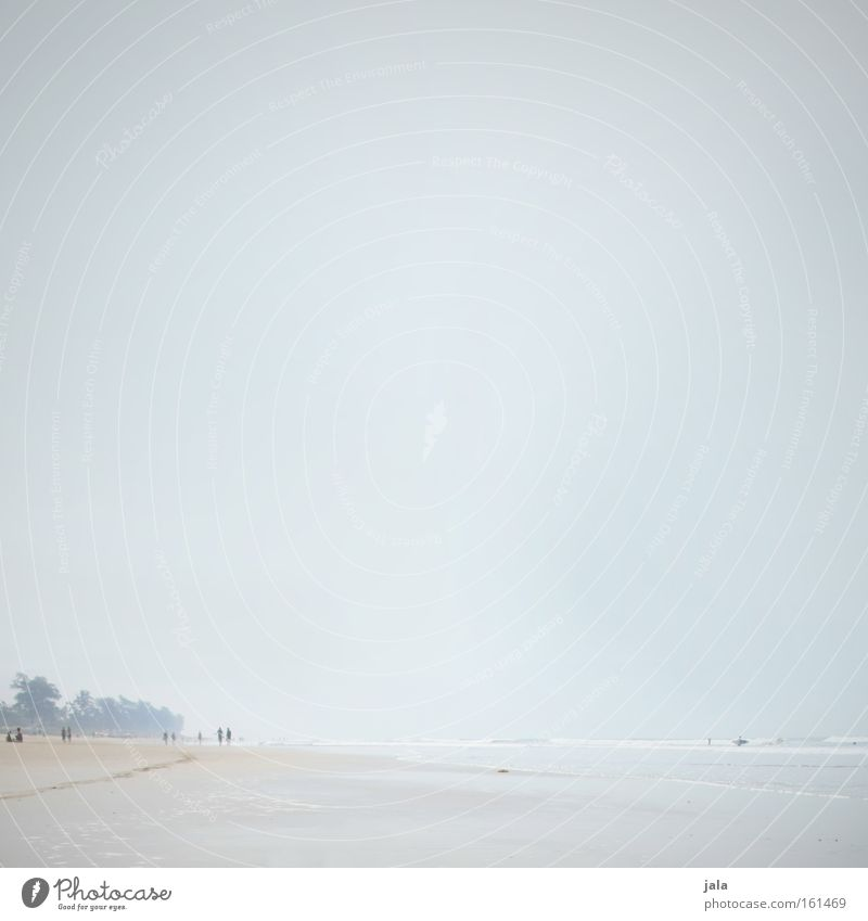 beach and sky Wasser Meer blau Strand Ferien & Urlaub & Reisen ruhig Ferne Freiheit Sand hell Küste Reisefotografie Frieden Indien Palme friedlich
