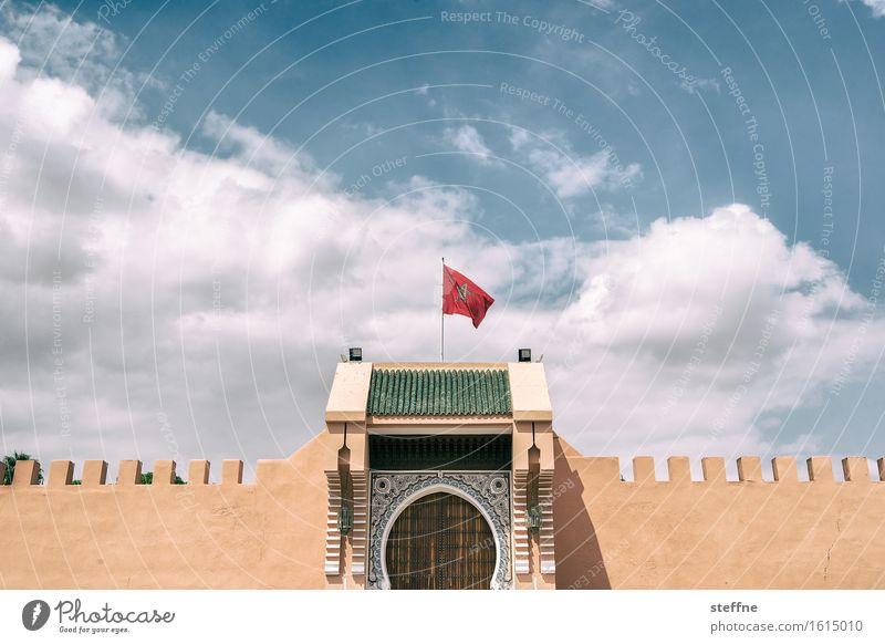 Arabian Dream I Marokko Orient Arabien arabisch Urlaub Tourismus Fahne Flagge Palast Marrakesch