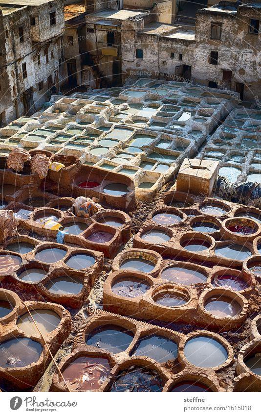 Arabian Dream II Ferien & Urlaub & Reisen Tourismus Fell Naher und Mittlerer Osten Arabien Marokko färben Farbtopf Fes Gerber
