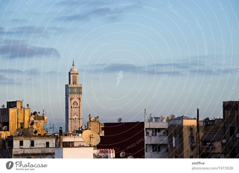 Arabian Dream IV Schönes Wetter Religion & Glaube Marokko Orient Arabien arabisch Urlaub Tourismus Casablanca Moschee Minarett Sonnenaufgang Moschee Hassan II