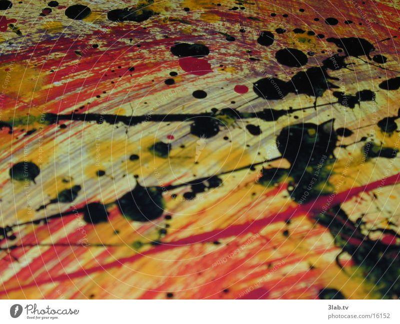 actionpainting mit ölfarben Kunst Design Gemälde Makroaufnahme Nahaufnahme Erdöl trashig