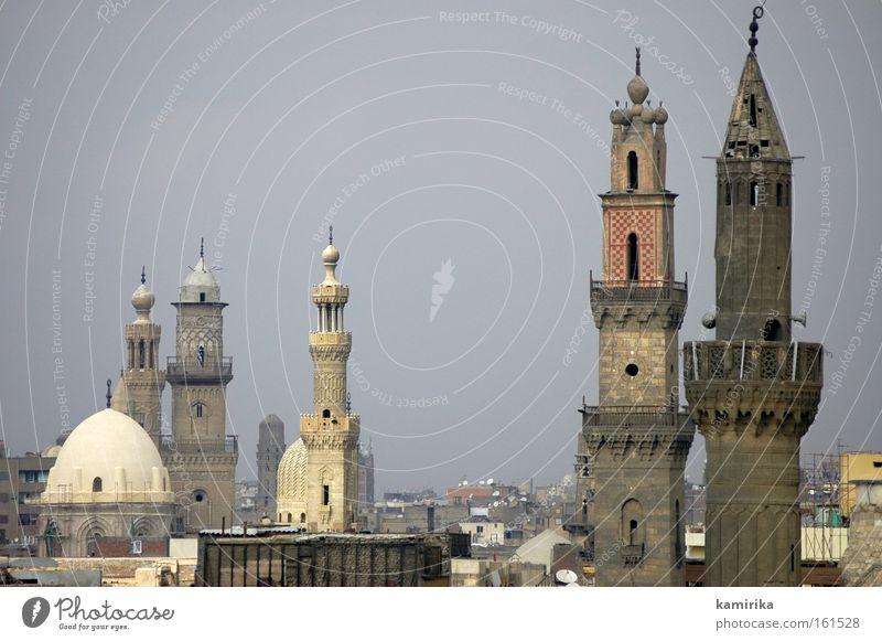 turmbau zu Islam Moschee Kairo Ägypten Silhouette Smog Gebet Landschaft Gotteshäuser mosque egypt pray muezzin landscape Turm