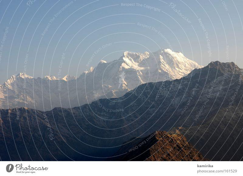 himalayan Natur Berge u. Gebirge Landschaft wandern Spitze Nepal Indien Montana Gletscher Himalaya Glacier Nationalpark