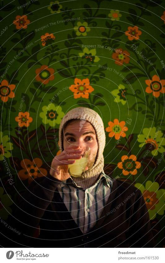 Absinth Alkohol trinken Mütze Blume Rauschmittel Alkoholisiert Tapete Porträt genießen Freude retro