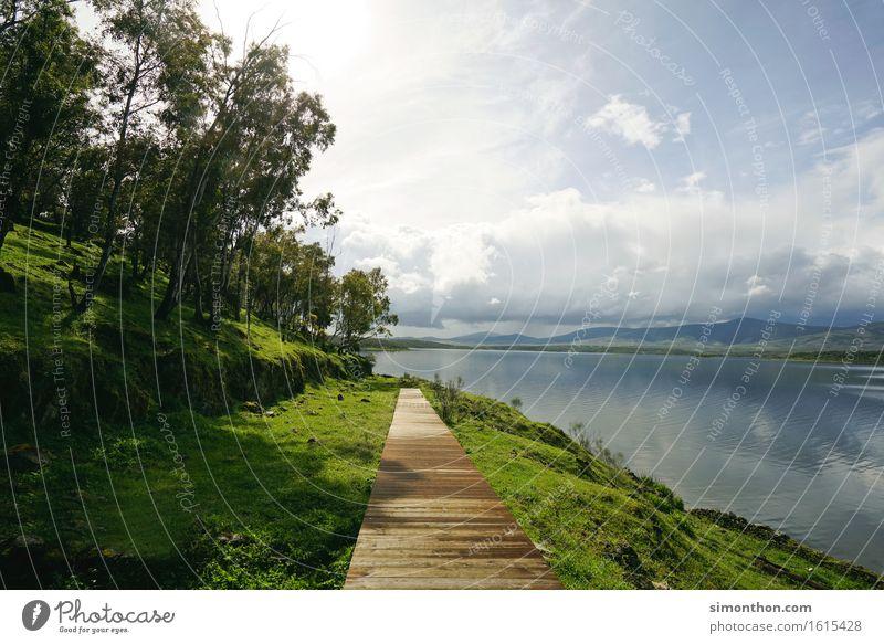 Green&Blue Umwelt Natur Landschaft Pflanze Luft Wasser Himmel Wolken Horizont Klima Klimawandel Schönes Wetter Berge u. Gebirge Küste Seeufer nachhaltig Pause