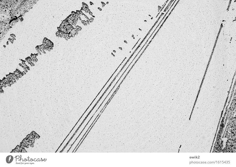 Autobahn Ferne Straße Kunst Freiheit Linie Verkehr frei Perspektive einfach Vergänglichkeit Ziel dünn Spuren lang Verkehrswege Fleck