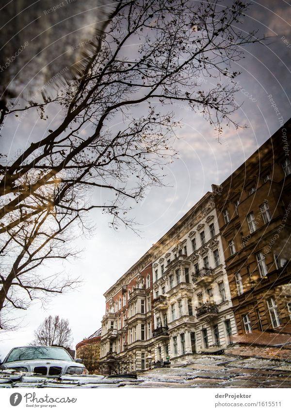 Kreuzberg in der Pfütze Ferien & Urlaub & Reisen Stadt Wasser Baum Haus kalt Herbst Berlin Tourismus PKW Ausflug Neugier entdecken Überraschung Hauptstadt