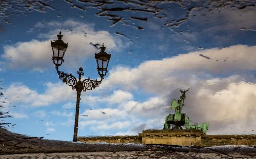 Klassisches Touristenmotiv mal anders Ferien & Urlaub & Reisen Sommer Ferne Architektur Berlin Gebäude Freiheit Tourismus wandern Ausflug Schönes Wetter