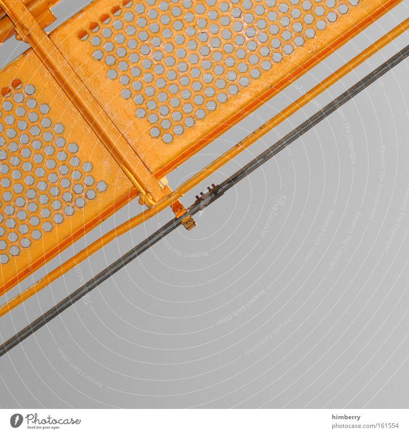 ecke für deutschland gelb grau Metall außergewöhnlich Zukunft Ecke Industrie Baustelle einzigartig retro Industriefotografie einfach Fabrik fest Stahl