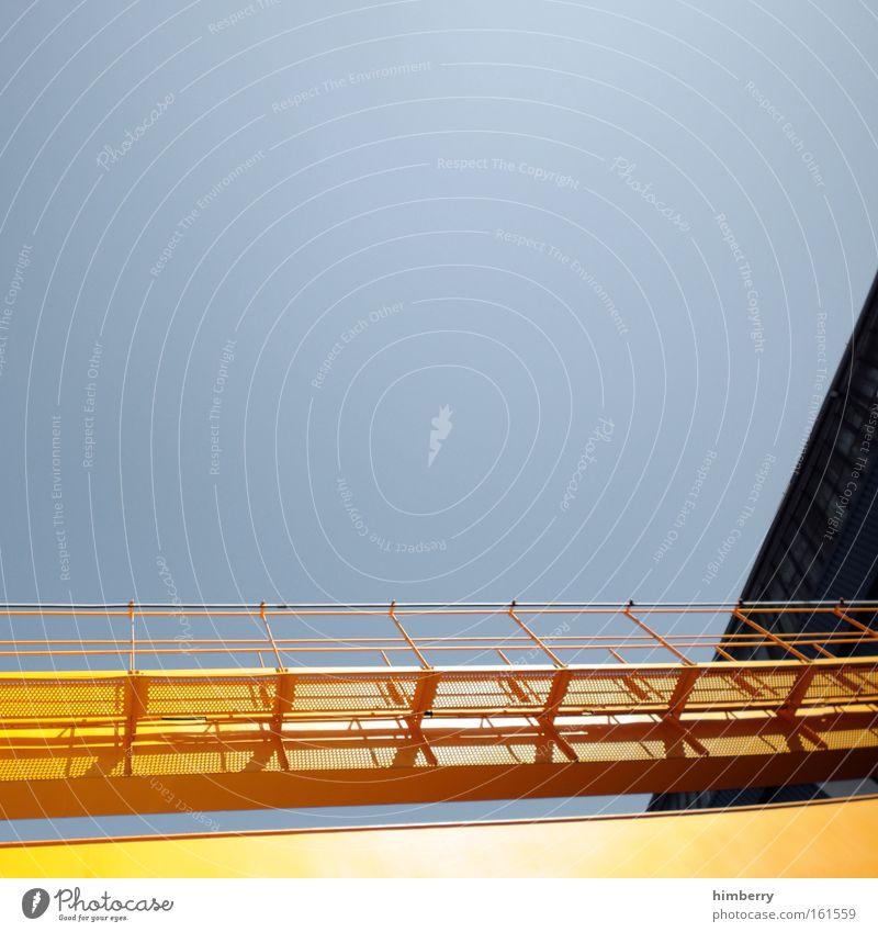 golden gate blau Farbe gelb Metall Arbeit & Erwerbstätigkeit Zufriedenheit Design groß Brücke Industrie einzigartig Industriefotografie einfach Bauwerk Fabrik