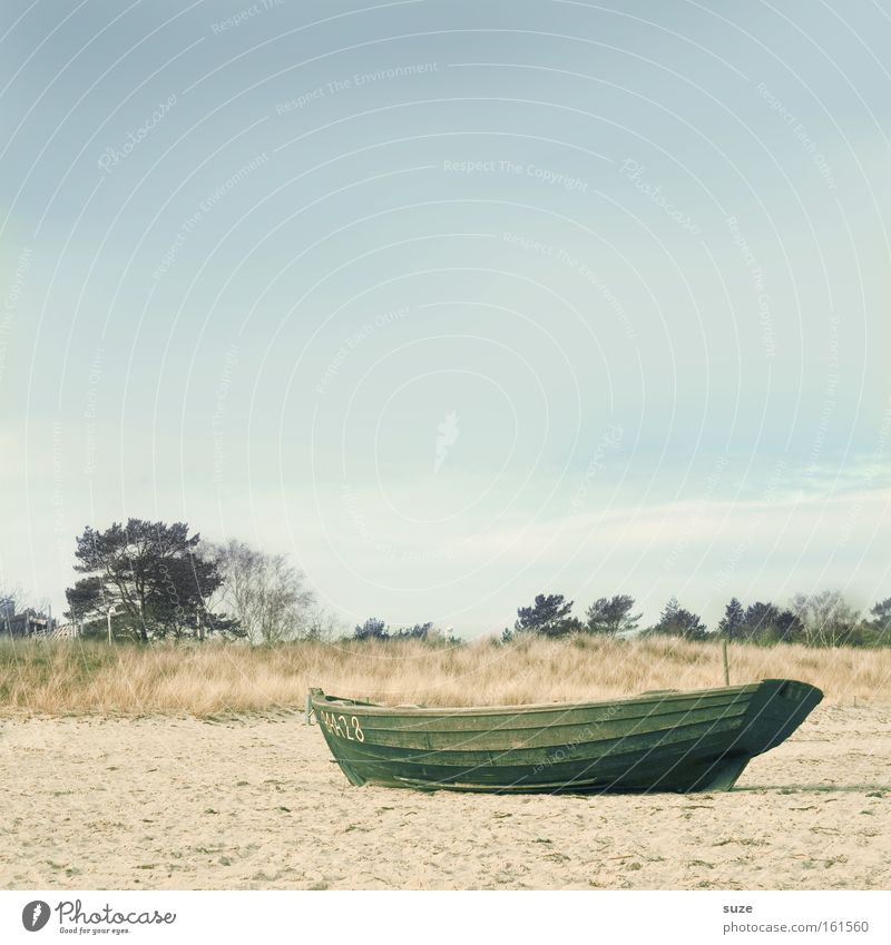 Strandgut Erholung ruhig Ferien & Urlaub & Reisen Ausflug Freiheit Meer Insel Wasser Himmel Horizont Küste See Hafen Fischerboot Wasserfahrzeug Holz fahren