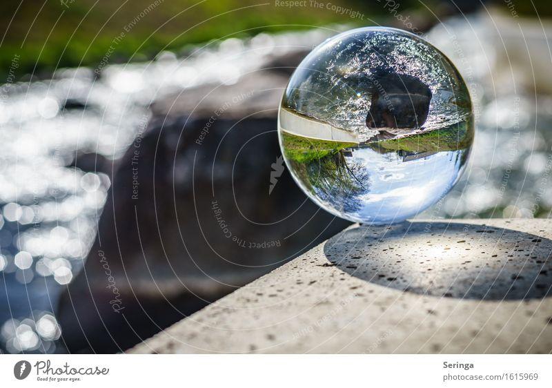 Durchblick Landschaft Wasser Frühling Sommer Flussufer Glas glänzend Blick Uecker Torgelow Farbfoto mehrfarbig Außenaufnahme Detailaufnahme Menschenleer