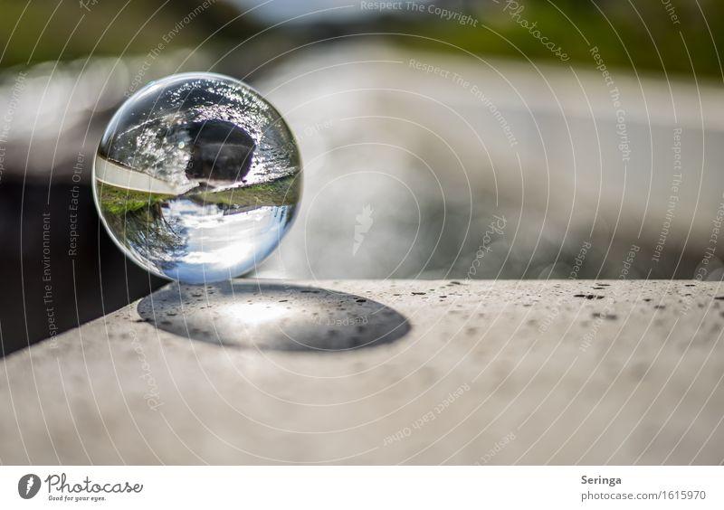 Ueckerblick durch die Glaskugel Ferien & Urlaub & Reisen Tourismus Ausflug Natur Landschaft Himmel Frühling Wetter Schönes Wetter Fluss Kristalle glänzend