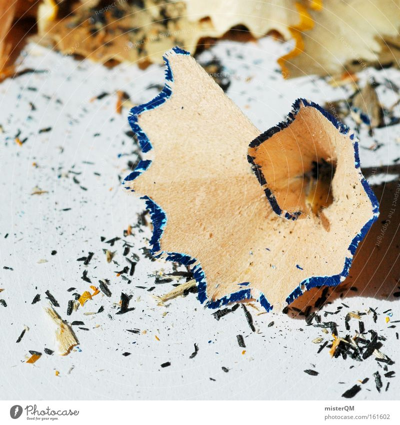 Wo gehobelt wird, fallen Späne... Kunst Arbeit & Erwerbstätigkeit Kindheit Design Pause Spitze Müll Schreibtisch Kreativität zeichnen Medien Gemälde Handwerk