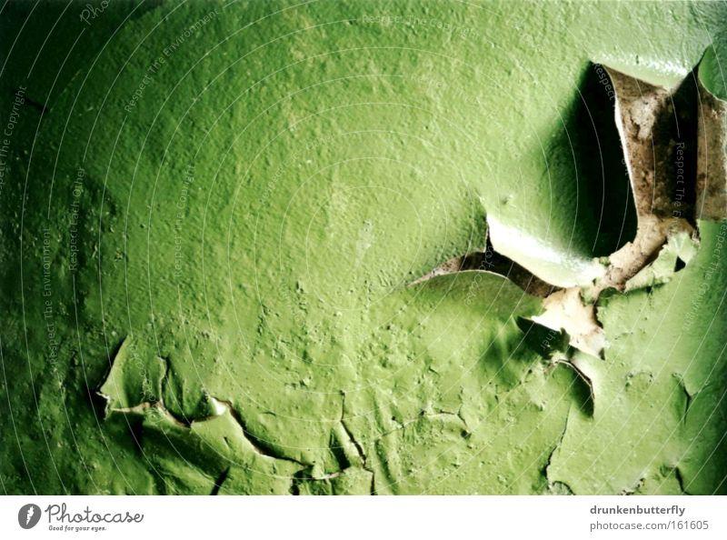 Lack bald ab Wand grün Stein abblättern Verfall Strukturen & Formen Hintergrundbild alt Tapete Demontage verfallen Vergänglichkeit Farbe