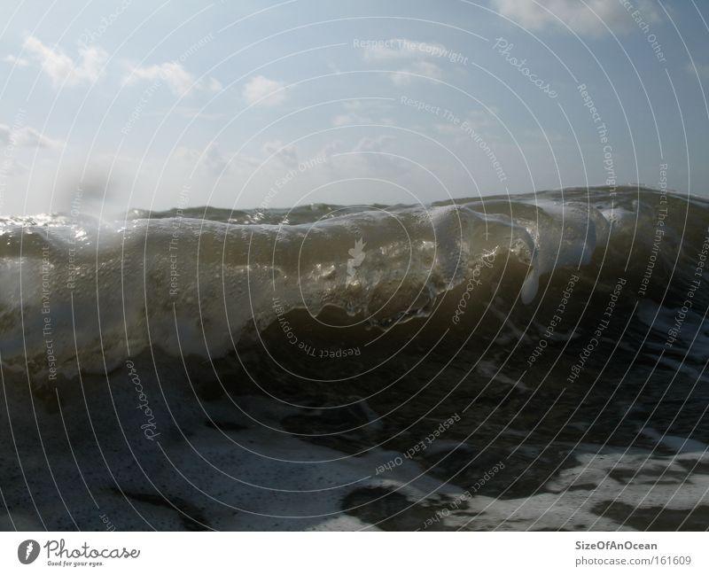 Little Big Wave Wasser Meer Strand Küste Wellen England London Underground Erdgaspipeline