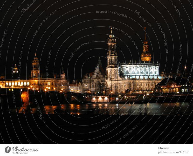 Dresden Altstadt Nacht Langzeitbelichtung historisch Canaletto-Blick