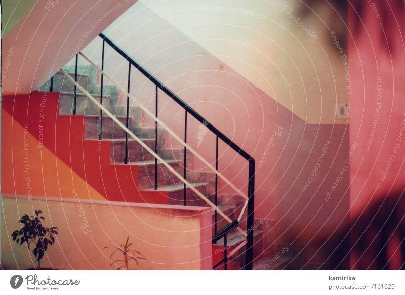 farbmilieu rot Ferien & Urlaub & Reisen Wärme Stimmung Treppe Hotel Indien Leiter Flur Geländer Bordell