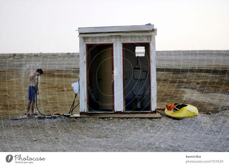 oase Wasser Meer Kanu Wüste Toilette Dusche (Installation) Asien Dürre Naher und Mittlerer Osten Salz Israel steinig salzig Kajak Stranddusche