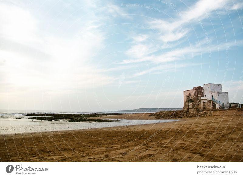 Sidi Kouki Ferien & Urlaub & Reisen Sommer Sonne Strand Meer Sand Himmel Wolken Küste Kraft ruhig Grabmal heilig Marokko Gotteshäuser Afrika Pilgerort