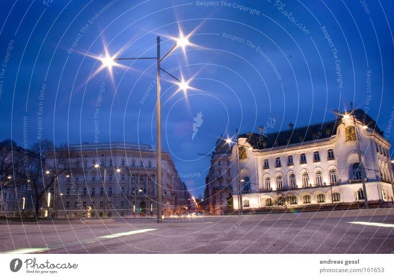 Himmel blau Lampe Verkehrswege HDR Franzosen
