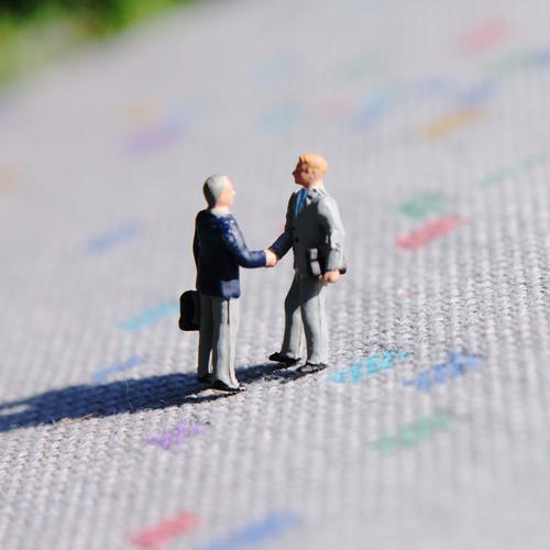 Sie sind? sprechen Arbeit & Erwerbstätigkeit Kommunizieren Sitzung Teppich Begrüßung Hände schütteln