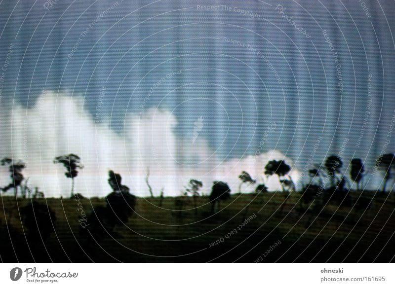 Wettervorhersage Himmel Wolken Schatten Fernsehen Fernseher Baum Landschaft Wärme Warmherzigkeit Sommer Afrika