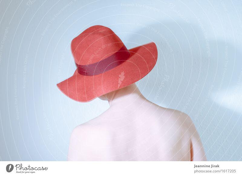 Migräne trägt rot II Mensch nackt schön Erotik Einsamkeit ruhig Traurigkeit feminin Stil Kopf elegant Körper ästhetisch stehen Haut