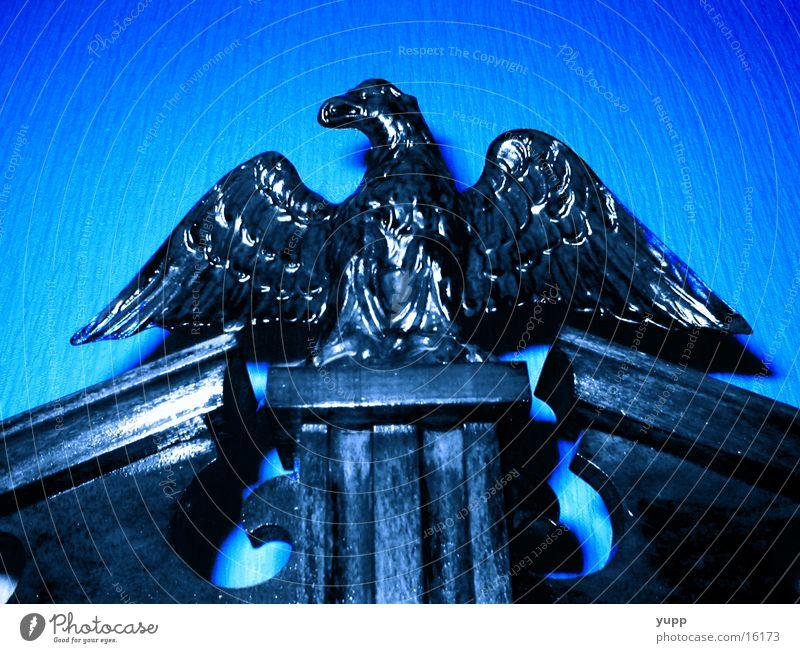 adler sollen fliegen blau Holz Kunst Handwerk Adler